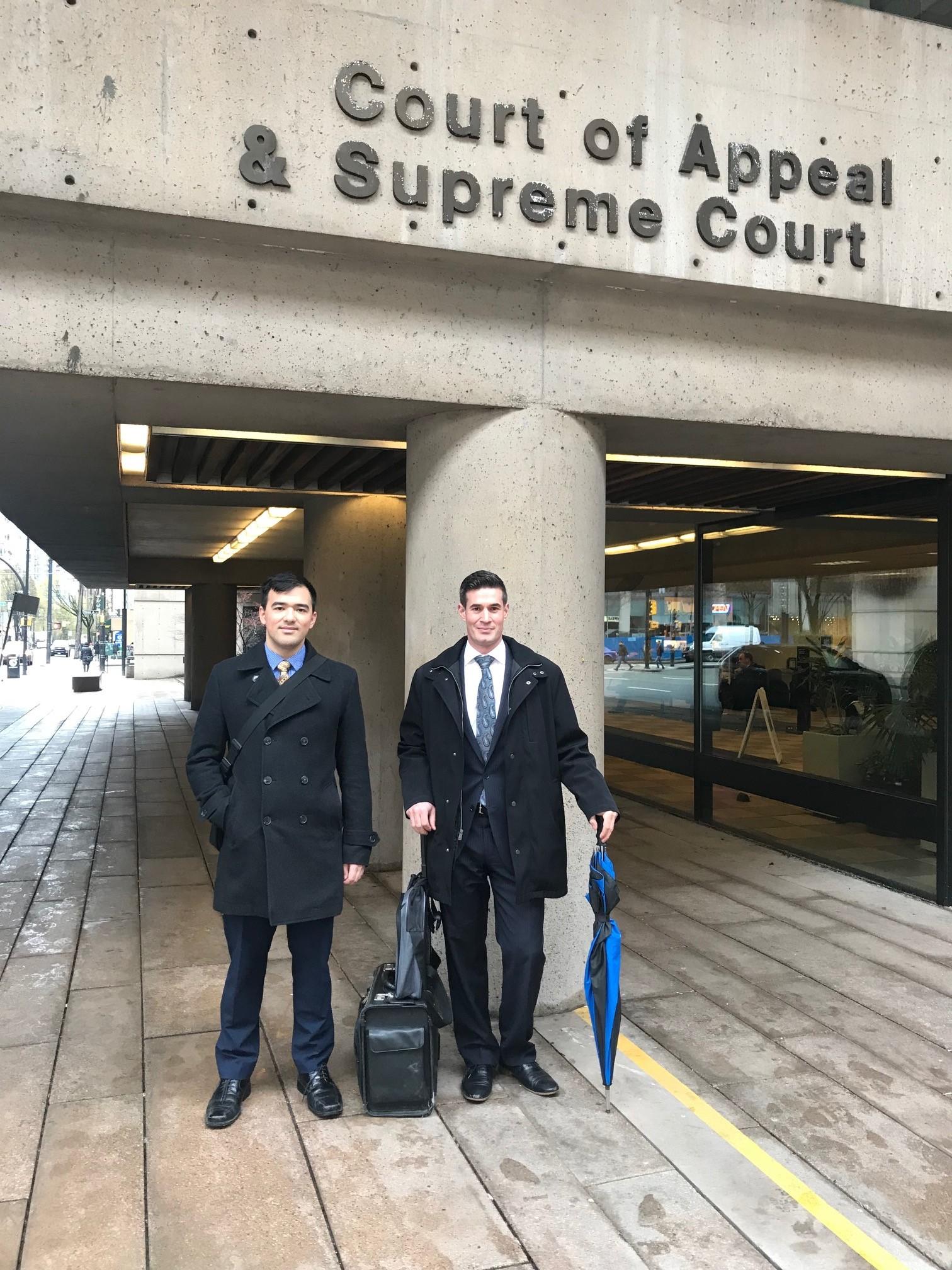 Isaac Won and Jonathon Blair at the BCSC
