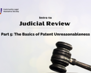 Intro to Judicial Review - Patent Unreasonableness